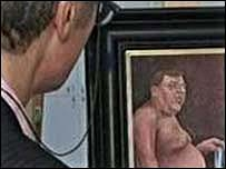 Naked Irish PM paintings