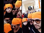 Shahrukh Khan With Son Abram At Golden Temple See Pics