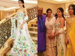 Sridevi And Her Daughters Jhanvi Kapoor Khushi Kapoor Dazzle At A Family Wedding