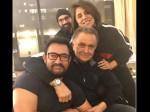 Aamir Khan Visits Rishi Kapoor And Neetu Kapoor At New York