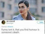 Tapsee Pannu Trolled For Trolling Kabir Singh Director But Finding Humor In Someone S Death