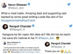 Varun Dhawan Takes A Dig At Rangoli Chandel And She Finally Surrenders