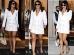 Priyanka Chopra Grabs Eyeballs In Newyork City With Her White Mini Blazer Dress