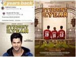Varun Dhawan Shares His First Bollywood Poster From Student Of The Year