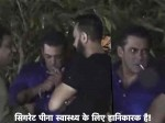 Salman Khan Spotted Smoking At His Ganpati Pooja Fans Slam The Actor