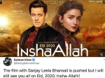 Breaking: सलमान खान ने किया एलान ईद 2020 फिल्म इंशाल्लाह पोस्टपोन, जमकर भड़के अक्षय कुमार फैन्स