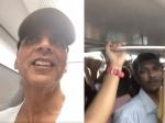 ट्रैफिक जाम से बचने के लिए मेट्रो ट्रेन में पहुंच गए अक्षय कुमार- किसी ने भी नहीं पहचाना- Video