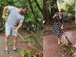 अपने फार्महाउस पर झाड़ू लगाते दिखे सलमान और यूलिया, देखिए वीडियो