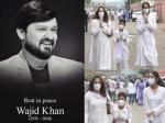 वाजिद खान की मौत से सदमे में पत्नी, अब्बा के अंतिम दर्शन करने पहुंचे बच्चे-PICS
