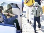 Pics: गेटवे ऑफ इंडिया पर अपना नया लुक छिपाते दिखे शाहरूख खान, कर रहे हैं पठान की शूटिंग