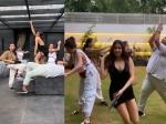जान्हवी कपूर ने दोस्तों के साथ मिलकर की पागलपंती, हाथ में सैंडल पकड़कर किया अजीब डांस!