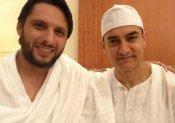 मक्का में मिले शाहिद अफरीदी और आमिर खान