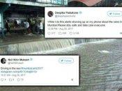 #MumbaiRains..एक बार फिर बारिश से बेहाल मुंबई..स्टार्स ने जताई चिंता..कुछ इस तरह