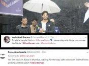 #MumbaiRains: बारिश में नाव से ये फिल्म देखने जा रहे लोग...इस सुपरस्टार के लिए!