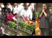 एम करुणानिधि को श्रद्धांजलि देने पहुंचे दक्षिण के सुपरस्टार रजनीकांत, कमल हासन और धनुष