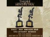 आमिर खान की फिल्म 'ठग्स ऑफ हिंदुस्तान' को मिला 2019 का पहला AWARD- बेस्ट फिल्म