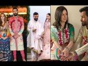 एक्ट्रेस और किक्रेटर की शादी की तस्वीरें: 'दिलवाले' क्रिकेटर 'बॉलीवुड' दुल्हनिया ले गए
