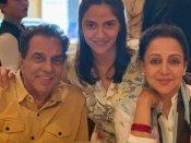 नाना-नानी बने धर्मेंद्र और हेमा मालिनी, जुड़वां बच्चियों की मां बनीं अहाना देओल