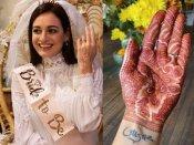दीया मिर्जा ने हाथों में रचाई होने वाले पति के नाम की मेंहदी, सामने आई ब्राइड शावर की प्यारी PHOTOS