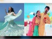 मौसी पद्मिनी कोल्हापुरी के बेटे की शादी में ब्लू लंहगे में छा गईं श्रद्धा कपूर, बॉयफ्रेंड के साथ आईं नजर -PICS