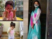सैफ - करीना के घर की होली पार्टी Pics: सूट में पहुंची सारा अली खान, फिर बिकीनी में किया Chill