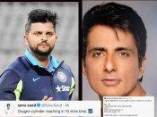 सोनू सूद ने क्रिकेटर सुरेश रैना को किया वादा - 10 मिनट में पहुंच रहा है ऑक्सीजन सिलेंडर