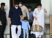 ढीले ढाले सूट में छिपाए नहीं छिपा पाईं करीना कपूर बेबी बंप, सैफ-तैमूर के साथ मुंबई वापस लौटीं-PICS