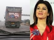 ट्रक के पीछे 'मेला' का पोस्टर देख ट्विंकल खन्ना ने किया पोस्ट, बोलीं 'फिल्म ने निशान छोड़ा या दाग'
