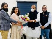 Tejas- कंगना रनौत ने रक्षा मंत्री राजनाथ सिंह से की मुलाकात, फिल्म 'तेजस' है कारण