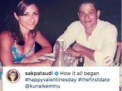सोहा अली खान का वैलेंटाइन डे - शेयर की कुणाल खेमू के साथ पहली डेट की तस्वीर