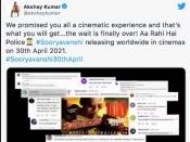 रोहित शेट्टी के जन्मदिन पर हुआ सूर्यवंशी का धमाका - अक्षय कुमार ने किया रिलीज़ डेट का एलान