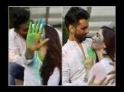 प्यार के रंग में राहुल वैद्य ने दिशा परमार को किया Kiss, गले लगाकर खेली दोनों ने हैप्पी होली
