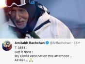 अमिताभ बच्चन ने ली कोरोना वैक्सीन की पहली डोज़, ट्वीट कर दी सेहत की जानकारी