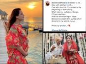 प्रेगनेंट हैं दीया मिर्ज़ा, हनीमून से शेयर की बेबी बंप की तस्वीर, फरवरी में की वैभव रेखी से शादी