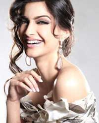 Sonam Kapoor as smiling