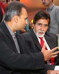 Anil with Amitabh