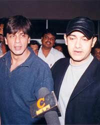 Aamir with Shahrukh