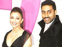 Abhi and Ash at the premier of Pink Panther 2