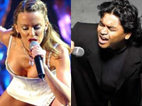 A.R. Rahman working with Kylie Minogue