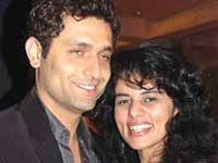Shiney Ahuja with wife