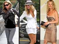Kate Moss in three different looks