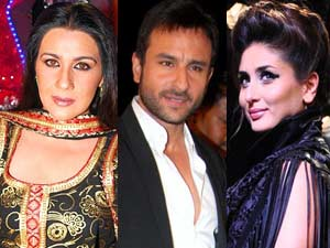 Amrita, Saif and Kareena
