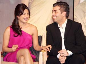 Karan Johar and Priyanka Chopra'