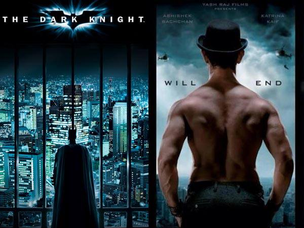 Yes! Dhoom 3 poster is copied from Dark Knight 2's poster.