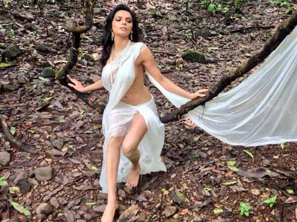 Sherlyn Chopra did shoot for Kamsutra 3d in transparent saree