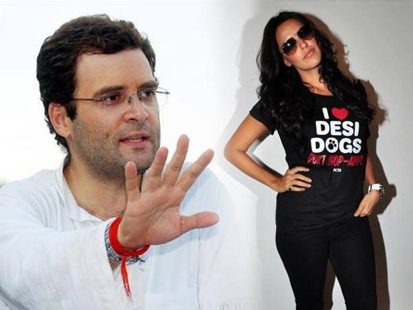 <strong>राहुल गांधी के क्लीन शेव लुक की दिवानी हुई नेहा धूपिया </strong>