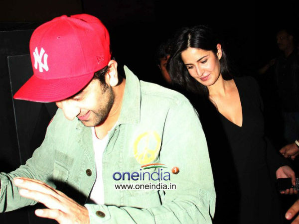 Ranbir Kapoor and Katrina Kaif arrives at the special screening of film The Wolf of Wall Street
