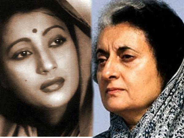 Image result for Aandhi's Aarti Devi versus Indira Gandhi