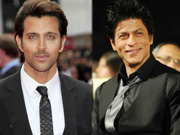 Shahrukh Khan and Hrithik Roshan taunts each other at Karan Johar's party