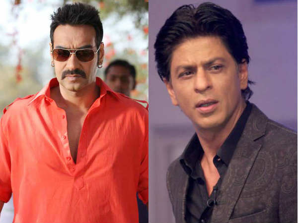 Shahrukh Khan hugged Ajay Devgan at Singham 2 shoot